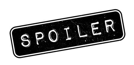 spoiler: Spoiler rubber stamp on white. Print, impress, overprint. Illustration