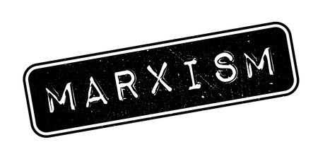 viewpoints: Marxism rubber stamp on white. Print, impress, overprint.