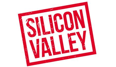 silicio: Sello de goma de Silicon Valley en blanco. Imprimir, impresionar, sobreimpresión.