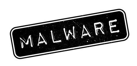 malware: Malware rubber stamp on white. Print, impress, overprint.