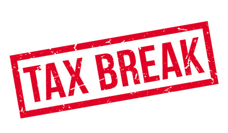 indirect: Tax Break rubber stamp on white. Print, impress, overprint. Illustration