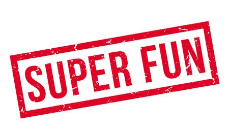 distraction: Super Fun rubber stamp on white. Print, impress, overprint. Illustration