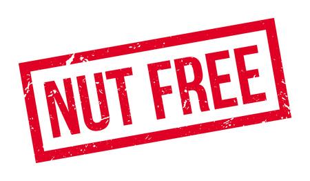 brazil nut: Nut free rubber stamp on white. Print, impress, overprint. Illustration