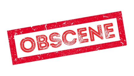 Obscene rubber stamp on white. Print, impress, overprint. 向量圖像