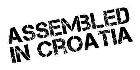erect: Assembled in Croatia rubber stamp on white. Print, impress, overprint.