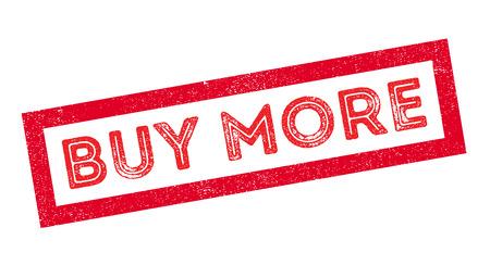 obtain: Buy more rubber stamp on white. Print, impress, overprint.