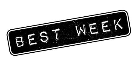 matchless: Best week rubber stamp on white. Print, impress, overprint. Illustration