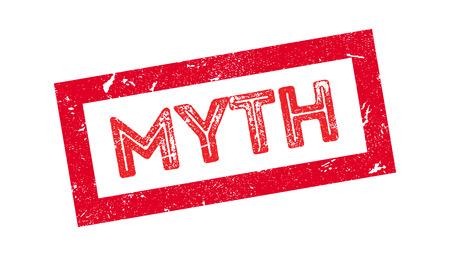 lawmaking: Myth rubber stamp on white. Print, impress, overprint.