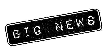 disclosure: Big news rubber stamp on white. Print, impress, overprint. Illustration