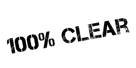 unambiguous: 100 percent clear rubber stamp on white. Print, impress, overprint. Illustration