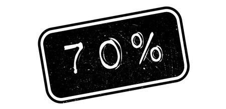 70 percent rubber stamp on white. Print, impress, overprint.