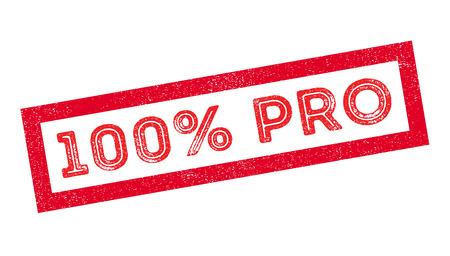 virtuoso: 100 percent pro rubber stamp on white. Print, impress, overprint. Illustration