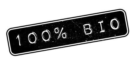 100 percent bio rubber stamp on white. Print, impress, overprint.