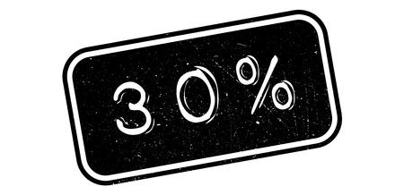 economic interest: 30 percent rubber stamp on white. Print, impress, overprint.