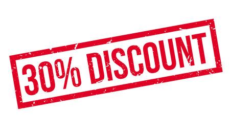 bargaining: 30 percent discount rubber stamp on white. Print, impress, overprint.