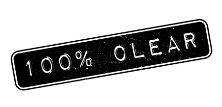 understandable: 100 percent clear rubber stamp on white. Print, impress, overprint. Illustration