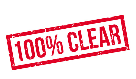 clear: 100 percent clear rubber stamp on white. Print, impress, overprint. Illustration