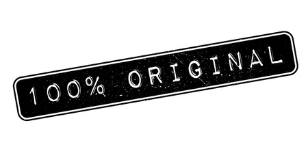 dependable: 100 percent original rubber stamp on white. Print, impress, overprint.