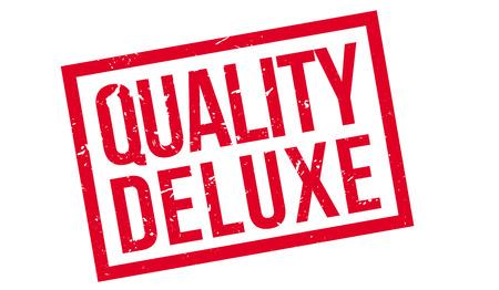 merit: Quality Deluxe rubber stamp on white. Print, impress, overprint. Illustration