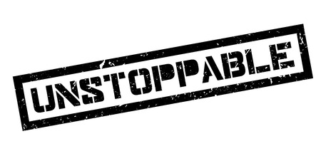 unstoppable: Unstoppable rubber stamp on white. Print, impress, overprint.