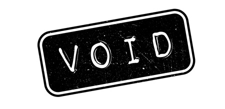 the void: Void rubber stamp on white. Print, impress, overprint.