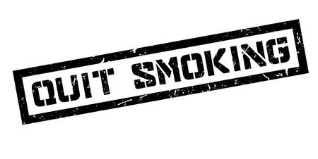 quit: Quit Smoking rubber stamp on white. Print, impress, overprint. Illustration