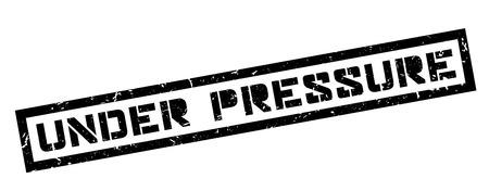 pressurized: Under Pressure rubber stamp on white. Print, impress, overprint. Illustration