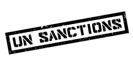 un: UN Sanctions rubber stamp on white. Print, impress, overprint.