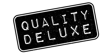 Quality Deluxe rubber stamp on white. Print, impress, overprint. Stok Fotoğraf - 64777478