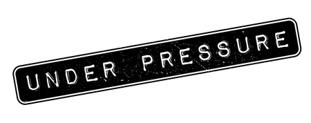 strain: Under Pressure rubber stamp on white. Print, impress, overprint. Illustration