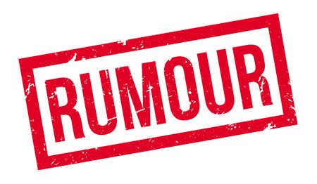 hearsay: Rumour rubber stamp on white. Print, impress, overprint. Illustration