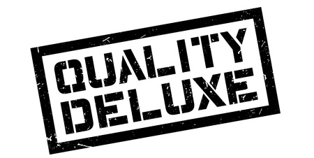 Quality Deluxe rubber stamp on white. Print, impress, overprint. Stok Fotoğraf - 64777635