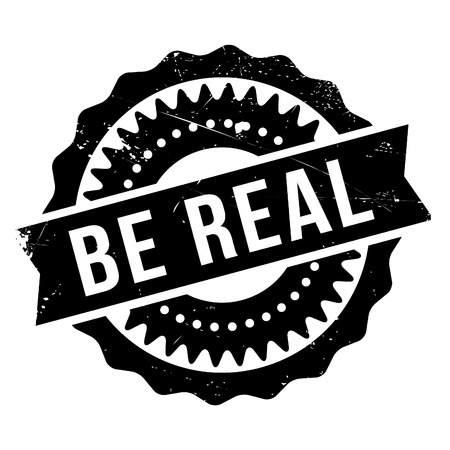 honorable: Be real stamp. Grunge design with dust scratches. Effects can be easily removed for a clean, crisp look. Color is easily changed.