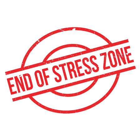 relieve: End Of Stress Zone rubber stamp. Grunge design with dust scratches. Effects can be easily removed for a clean, crisp look. Color is easily changed.