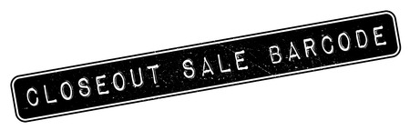closeout: Closeout Sale Barcode rubber stamp. Grunge design with dust scratches. Effects can be easily removed for a clean, crisp look. Color is easily changed.
