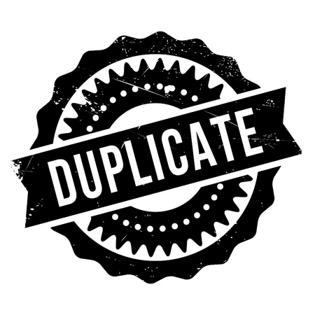 Duplicate stamp. Grunge design with dust scratches. Effects can be easily removed for a clean, crisp look. Color is easily changed. Çizim
