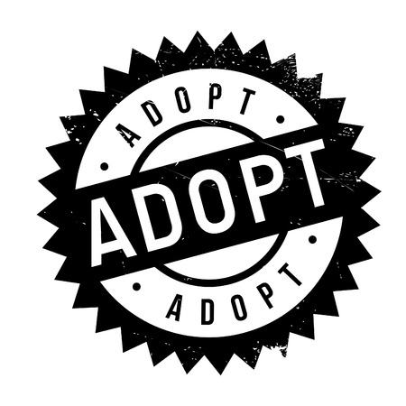 Adopt stamp. Grunge design with dust scratches. Effects can be easily removed for a clean, crisp look. Color is easily changed.