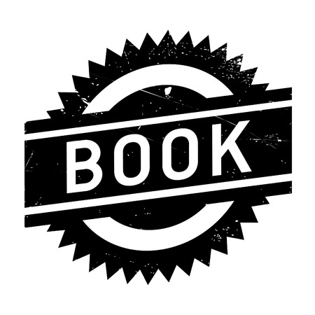 Book stamp. Grunge design with dust scratches. Effects can be easily removed for a clean, crisp look. Color is easily changed.