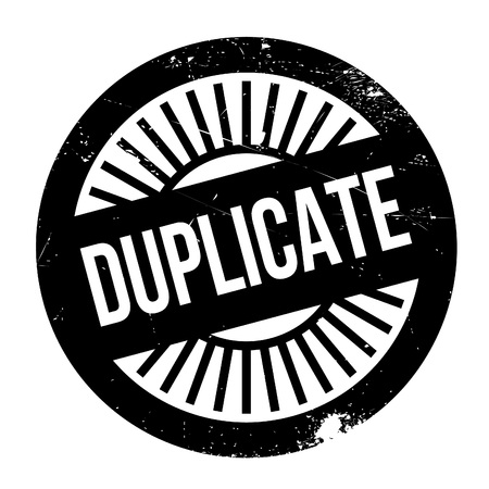Duplicate stamp. Grunge design with dust scratches. Effects can be easily removed for a clean, crisp look. Color is easily changed. Illustration