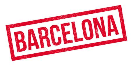 Barcellona timbro di gomma. Design grunge con graffi di polvere. Gli effetti possono essere facilmente rimossi per un look pulito e nitido. Il colore è facilmente modificabile
