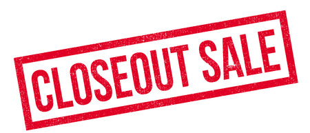 closeout: Closeout Sale rubber stamp. Grunge design with dust scratches. Effects can be easily removed for a clean, crisp look. Color is easily changed.