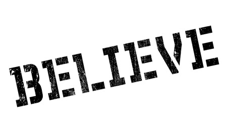 Believe stamp. Grunge design with dust scratches. Effects can be easily removed for a clean, crisp look. Color is easily changed.