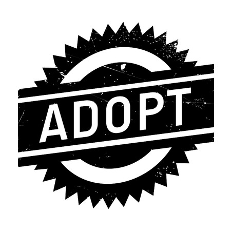 assent: Adopt stamp. Grunge design with dust scratches. Effects can be easily removed for a clean, crisp look. Color is easily changed.