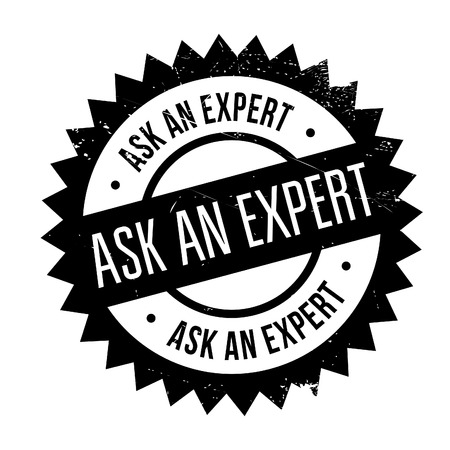 proficient: Ask an expert stamp. Grunge design with dust scratches. Effects can be easily removed for a clean, crisp look. Color is easily changed.
