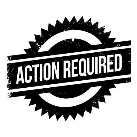 operation for: Action required stamp. Grunge design with dust scratches. Effects can be easily removed for a clean, crisp look. Color is easily changed.
