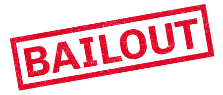 Bailout rubber stamp. Grunge design with dust scratches. Effects can be easily removed for a clean, crisp look. Color is easily changed. Illustration