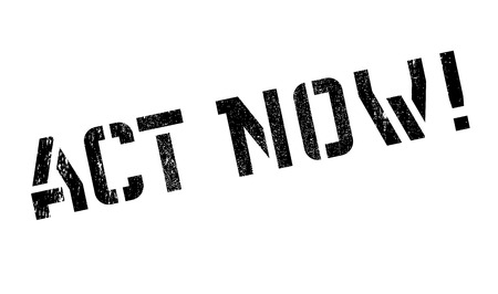 promptly: Act now stamp. Grunge design with dust scratches. Effects can be easily removed for a clean, crisp look. Color is easily changed. Illustration