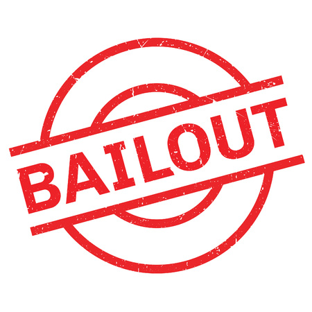 bailout: Bailout rubber stamp. Grunge design with dust scratches. Effects can be easily removed for a clean, crisp look. Color is easily changed. Illustration