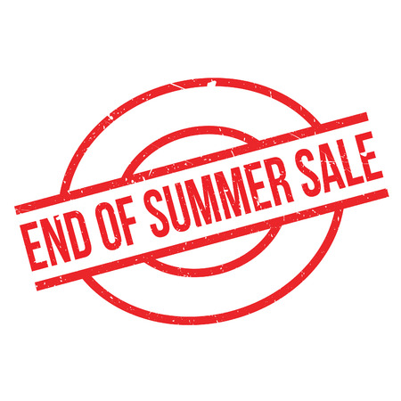 End Of Summer Sale rubber stamp. Grunge design with dust scratches. Effects can be easily removed for a clean, crisp look. Color is easily changed. Vetores