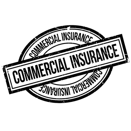insure: Commercial Insurance rubber stamp. Grunge design with dust scratches. Effects can be easily removed for a clean, crisp look. Color is easily changed.